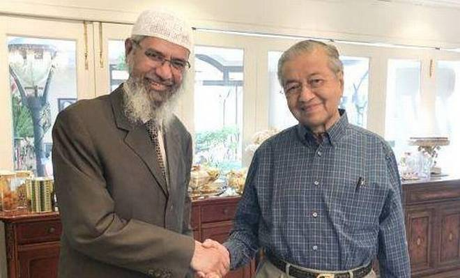 Zakir meeting with Mahathir. Img from TheHindu.