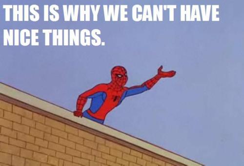 spiderman nice things meme