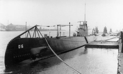 The O 16 submarine in its prime. Image from The Guardian