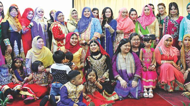 The Malaysian Wife of Bangladeshi club. Img from The Daily Star