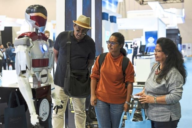 Malaysia's first humanoid robot, ADAM. Img from The Star
