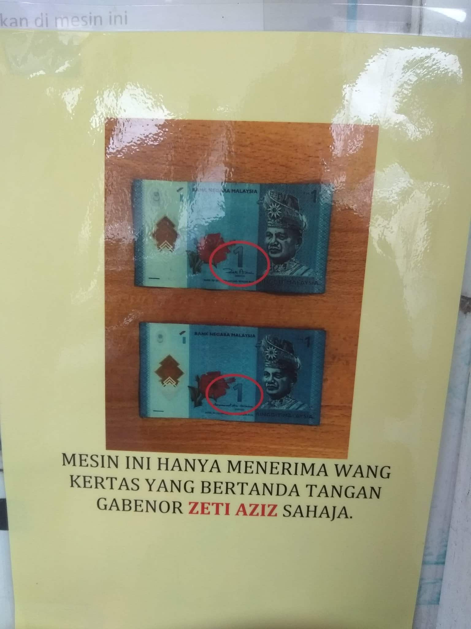 Some machines also got this sign. Img from @Haiqalrosli3 via Twitter.