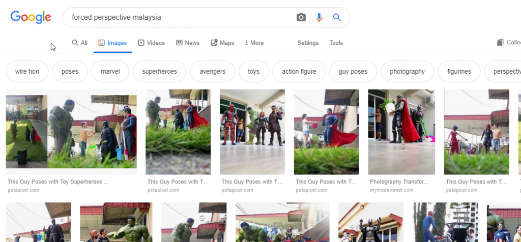 """Just google """"Forced Perspective Malaysia"""""""