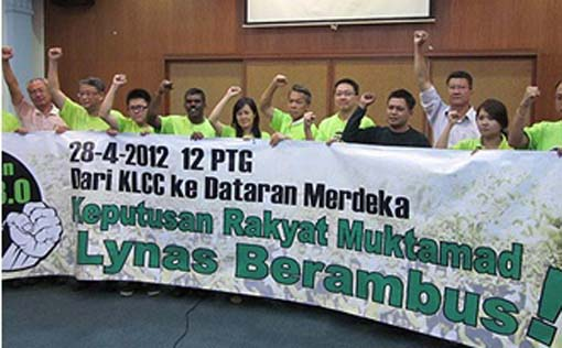 In the early days of Lynas, nationwide protests were held. Img from Citizen Journalists of Malaysia.