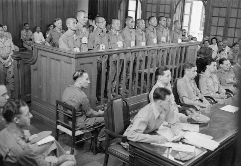 The first war crimes trials held at the Singapore Supreme Court on 21st January 1946. Image from: Imperial War Museums/Wikipedia