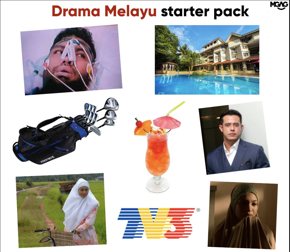 Razi's drama sounds a bit familiar innit? Img from MGAG's Facebook