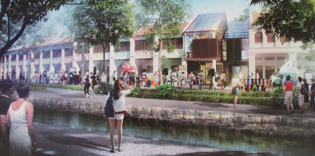 Artist's rendering of Sia Boey Rejuvenation Project Phase 2 from up-close. Image from: Penang Property Talk