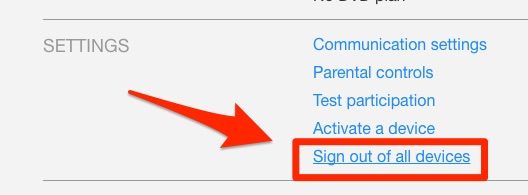 Go to settings to sign out of all devices. Image from Business Insider.