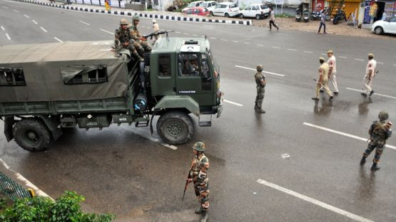Indian military personnel in Jammu and Kashmir. Image from BBC