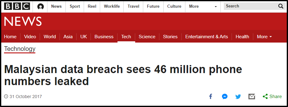 Screenshot from BBC