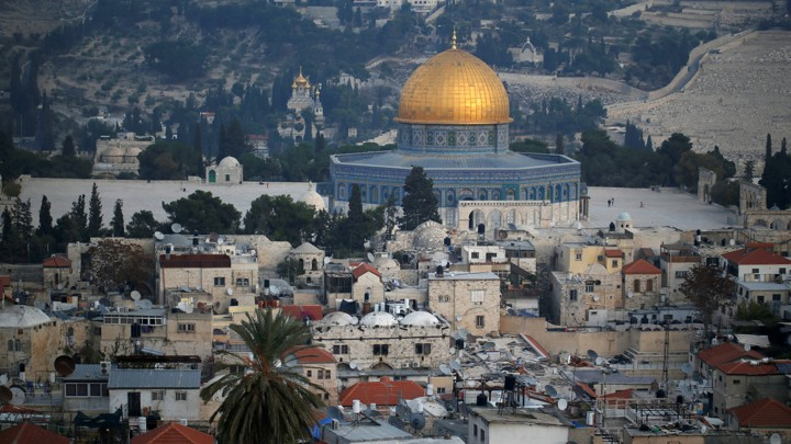 Jerusalem is considered one of the holiest sites in Judaism, Christianity, and Islam. Image from: The Atlantic