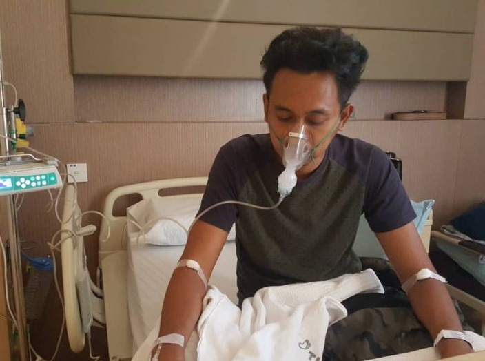 Mohd Firdaus, the 34 year-old Malaysian who suffered a lung injury supposedly caused by vaping. Image from: mstar