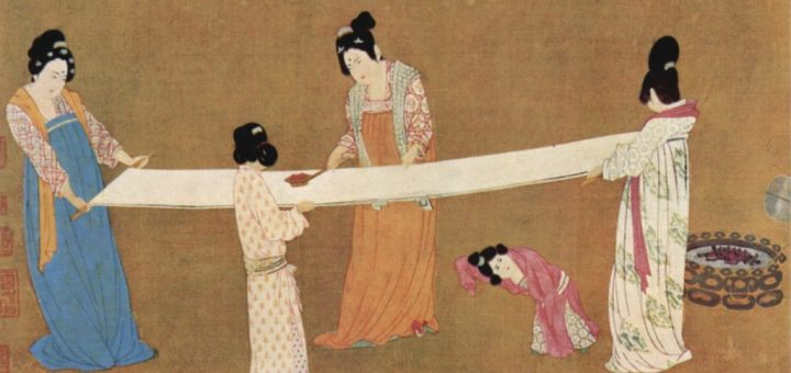 An Ancient Chinese painting depicting women weaving hemp fibre. Image from: Nature Going Smart