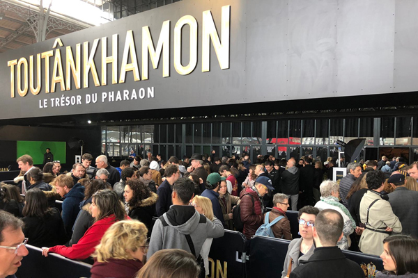 About 1.4 million people visited King Tut's exhibition in Paris. Img from Ahram Online