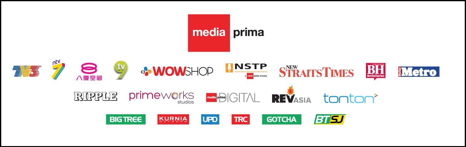 A sampling of companies under Media Prima. Img from Media Prima.