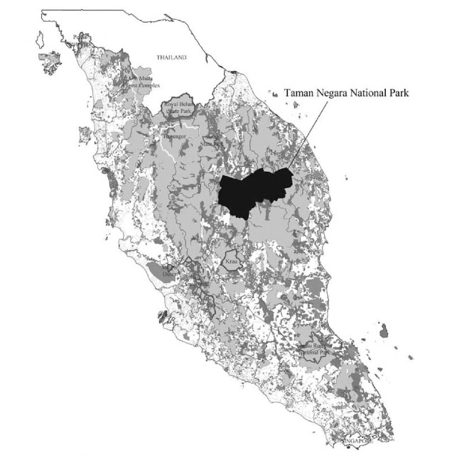 """Size of the national park. Img from """"Civilizing Nature: National Parks in Global Historical Perspective"""""""