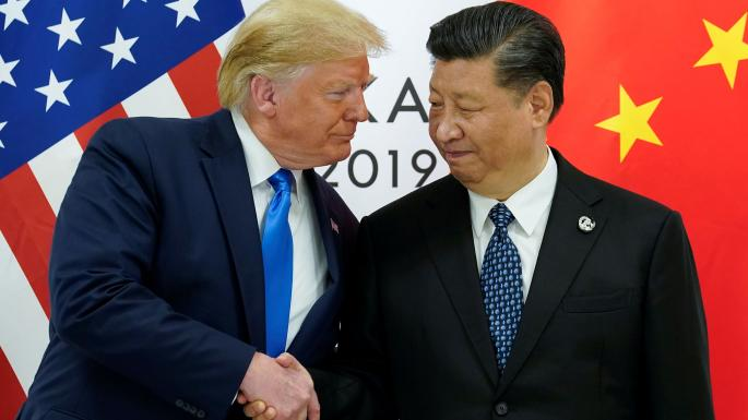 Find you a guy that looks at you like Trump looks at Jinping. Img from The Times UK.