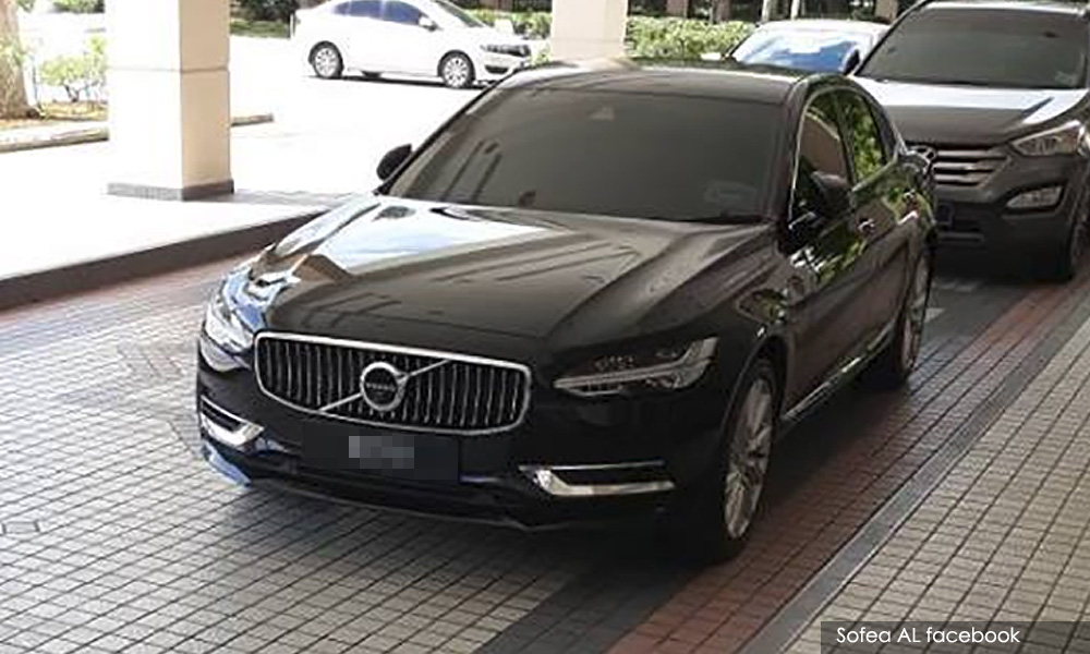 The Volvo car that was bought for Mukhriz. Img from Malaysiakini