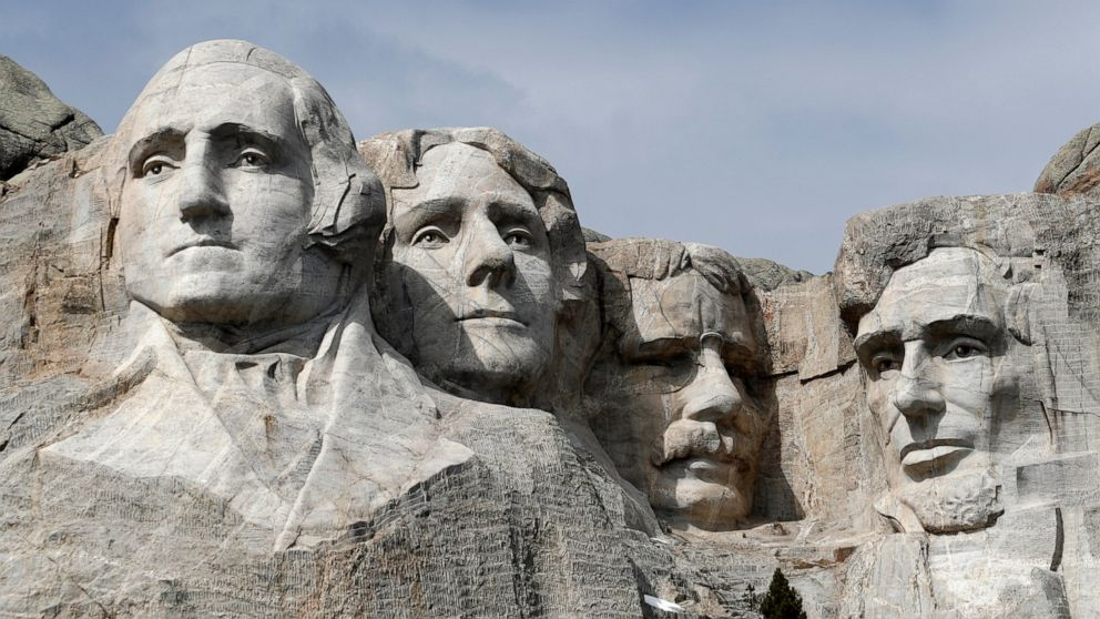 Mount Rushmore. Img from ABC News