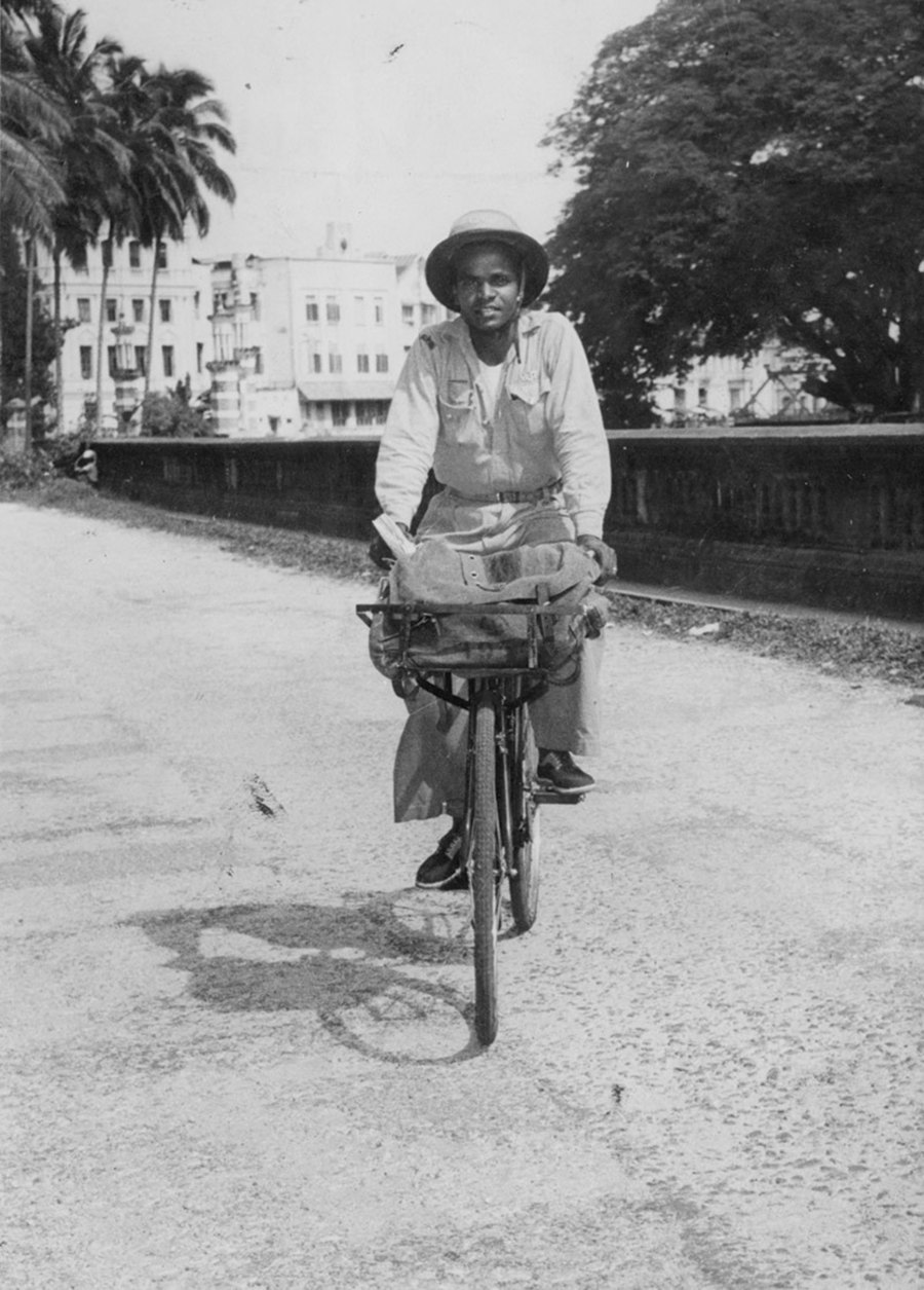 A postman in 1956. Img from NST
