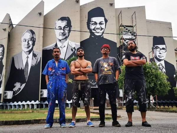 Red Rebel Art Squad. Img from Sinar Harian