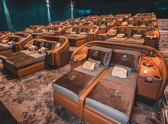 Imagine watching a movie in something as comfy as this! Image from Aurum Theatre