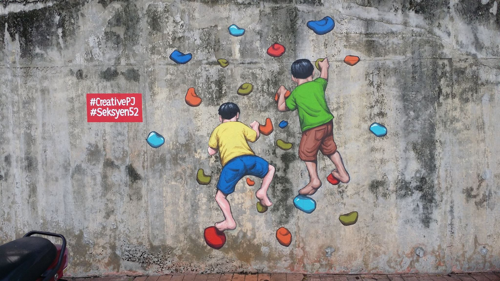 One of the murals in Section 52, PJ. Img from Urban Art Central Malaysia Facebook